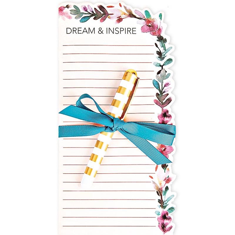 Diecut Notepad w/Pen Pres Leave