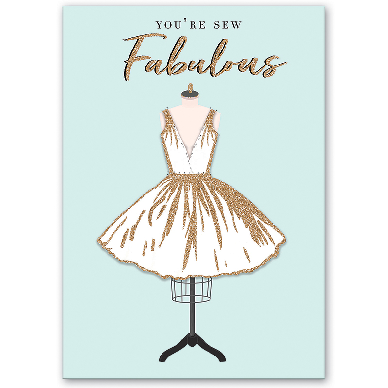 Greeting Card, Sew Fabulous, by Molly and Rex