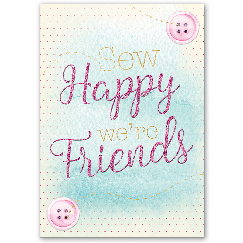 Greeting Card, Sew Happy Friend, by Molly and Rex