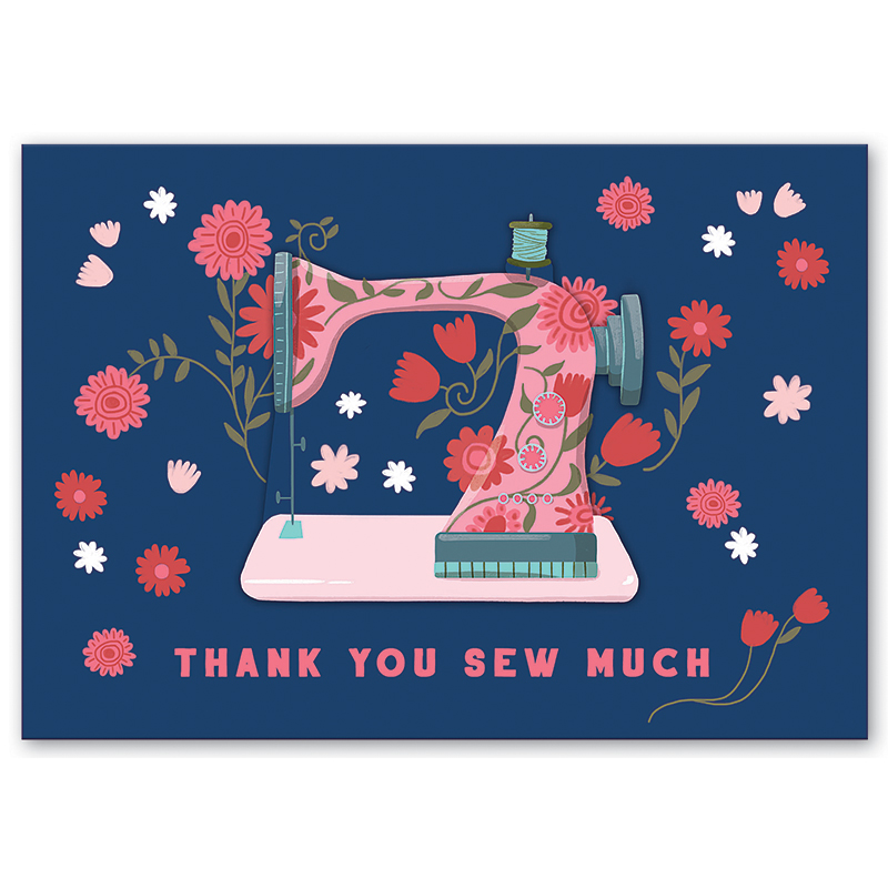 Greeting Card, TY Sew Much, by Molly and Rex