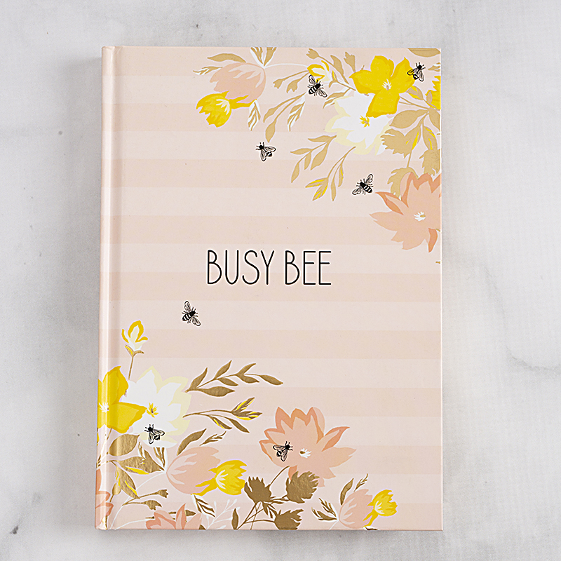 Hardcover Journal Busy Bee