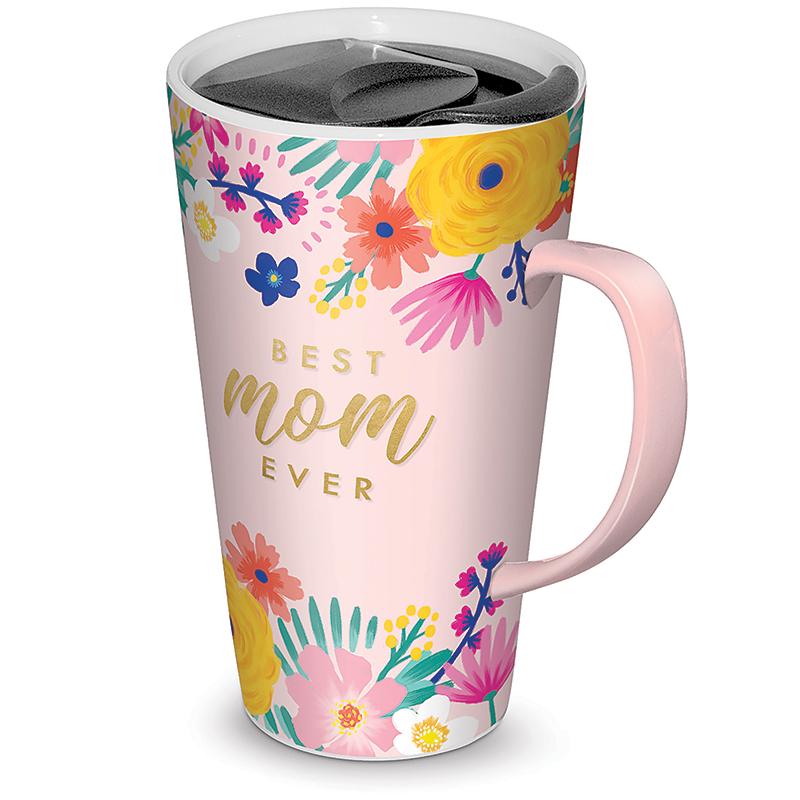 Mom Travel Mug Happy Floral