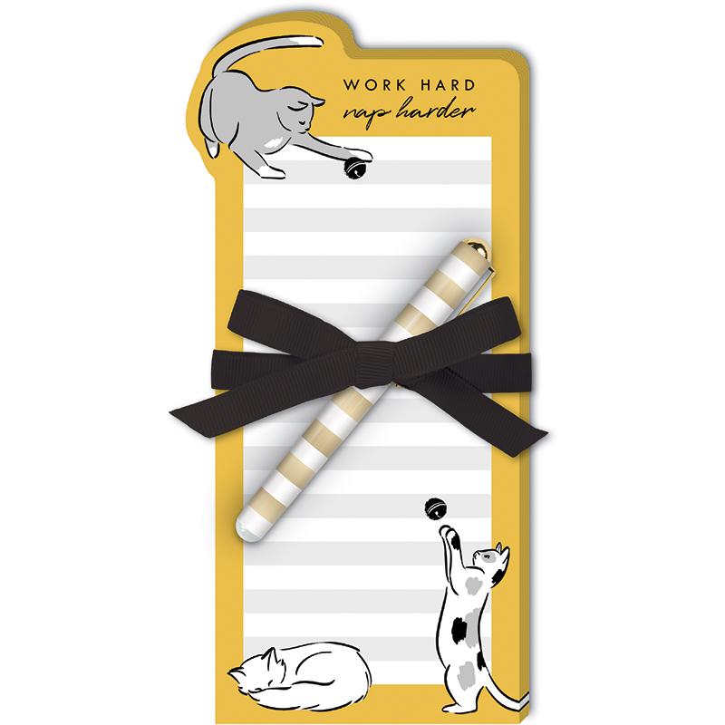 Pet Diecut Notepad w/Pen Catnap