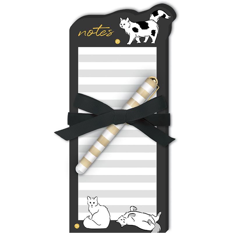 Pet Diecut Notepad w/Pen Cat