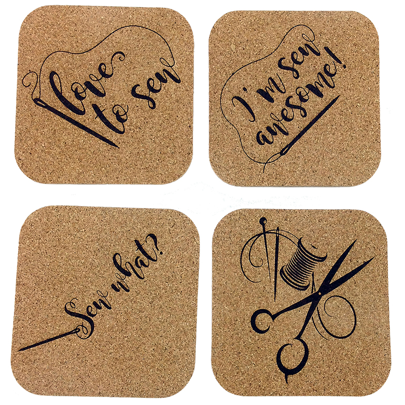 Cork Coasters Sew Needle FF1401