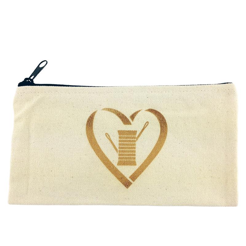 Heart Needle Thread Zipper Bag