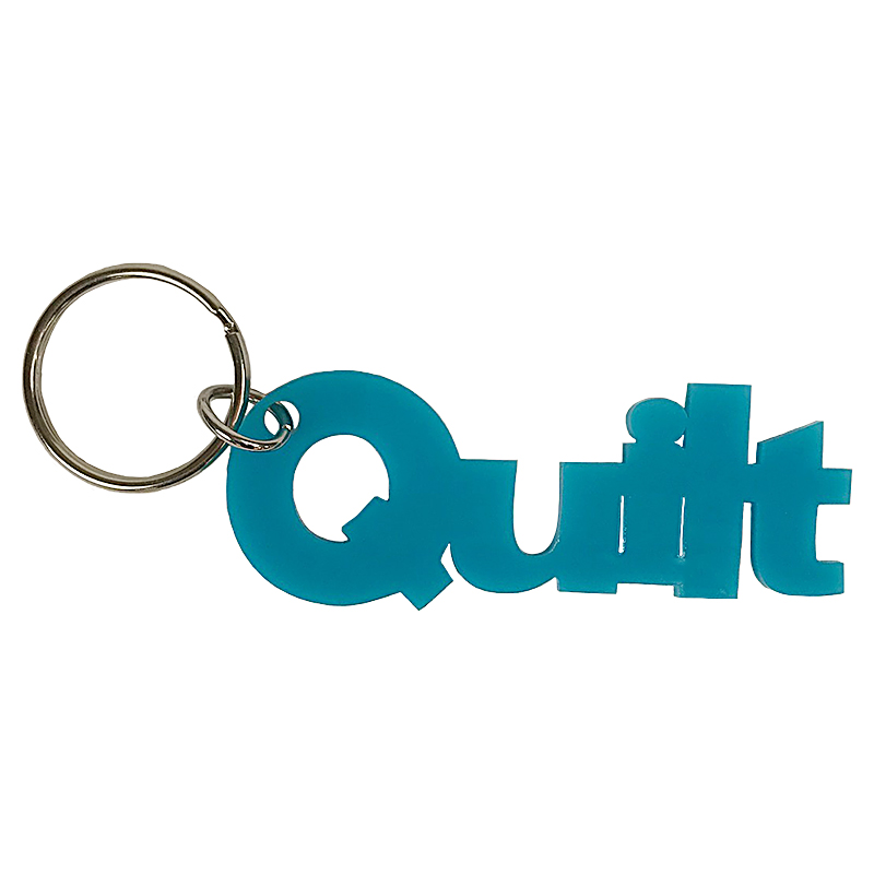 Key Ring - Quilt - Turquoise