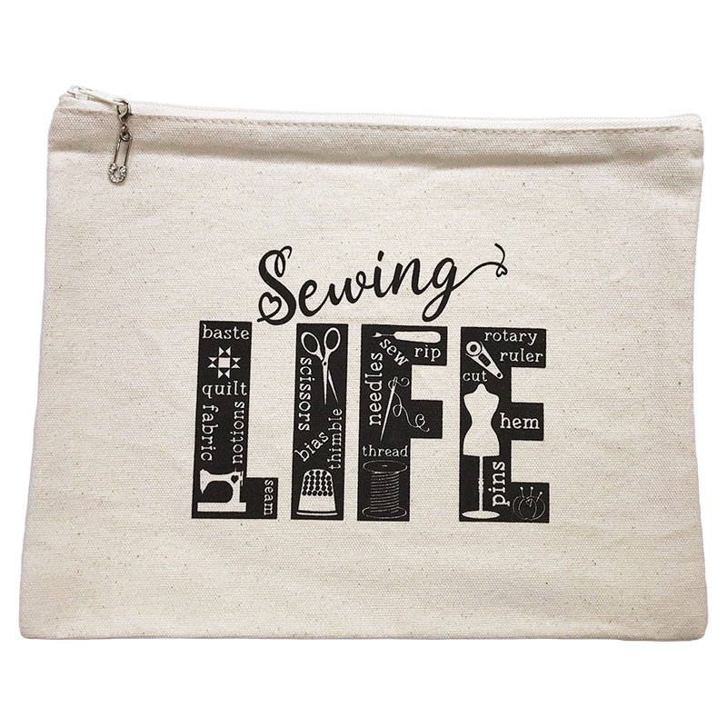 Sewing Life Zip Bag 9x11