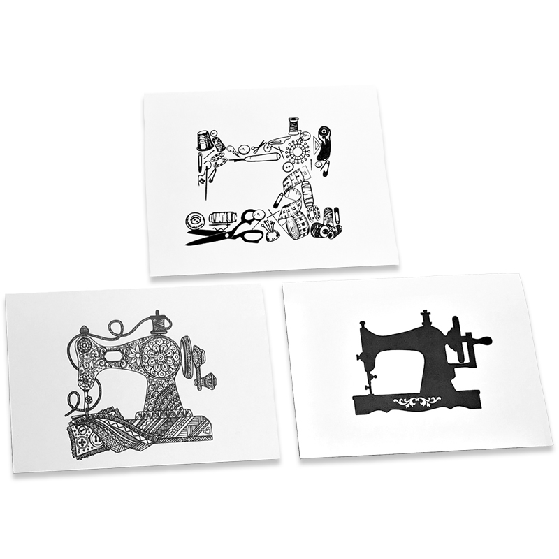 Note Cards Sewing Machine 6ct