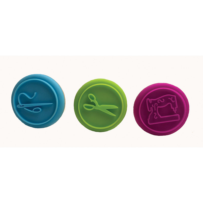 Silicone Stamps Sewing 3ct
