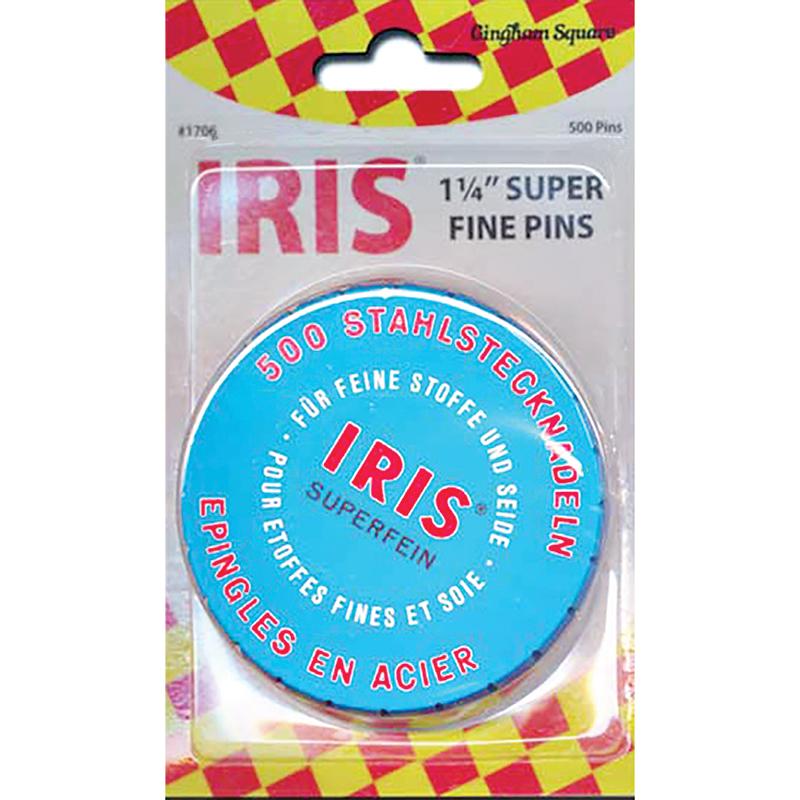 Iris Swiss SuperFine Pins 500ct