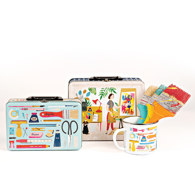 Lunch Box Tin Art Lover - Small