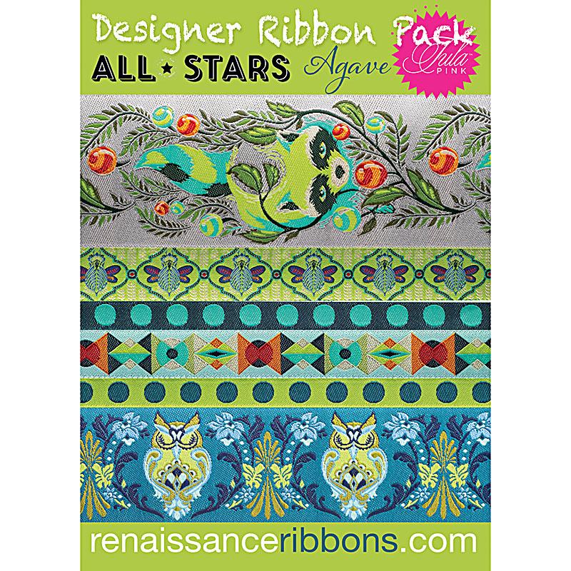 Designer Ribbon Pack All Stars/Agave: (Tula Pink)