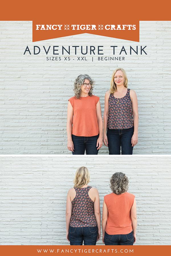 Adventure Tank Shirt Pattern by Fancy Tiger Crafts