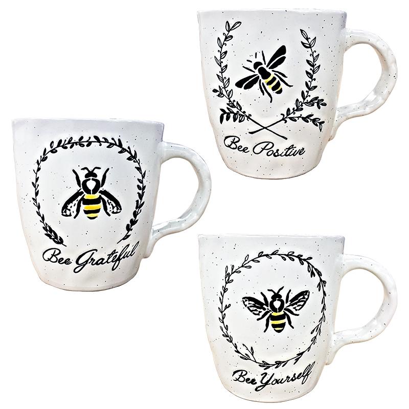 Mug 17oz Asst Bee Garland