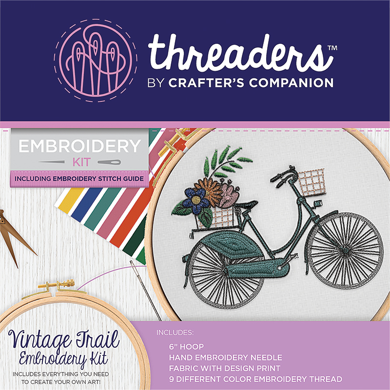 Embroidery Kit Vintage Trail