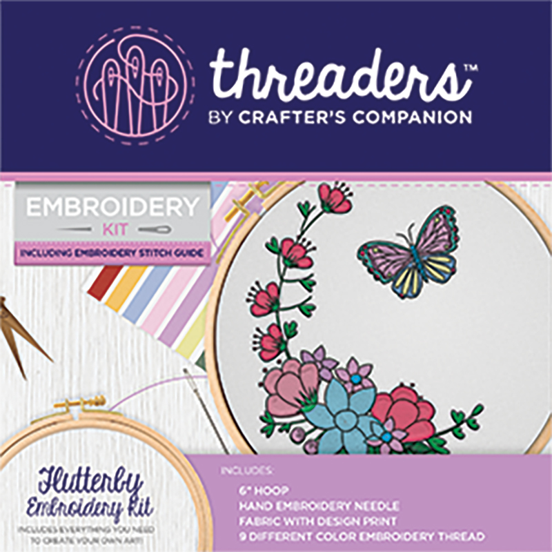 Embroidery Kit Flutterby