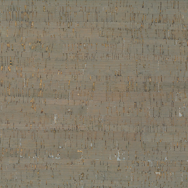 Cork Fabric 18x15 Taupe/Silvr