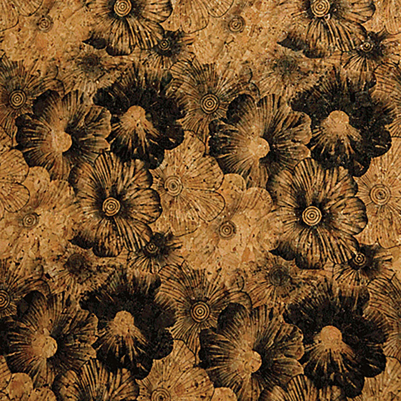 Flower Print Black 18 x 15 Cork