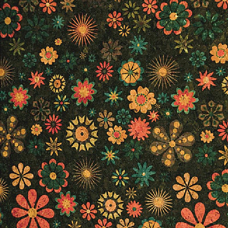 Cork Fabric 18x15 Small Flower BPC 1006