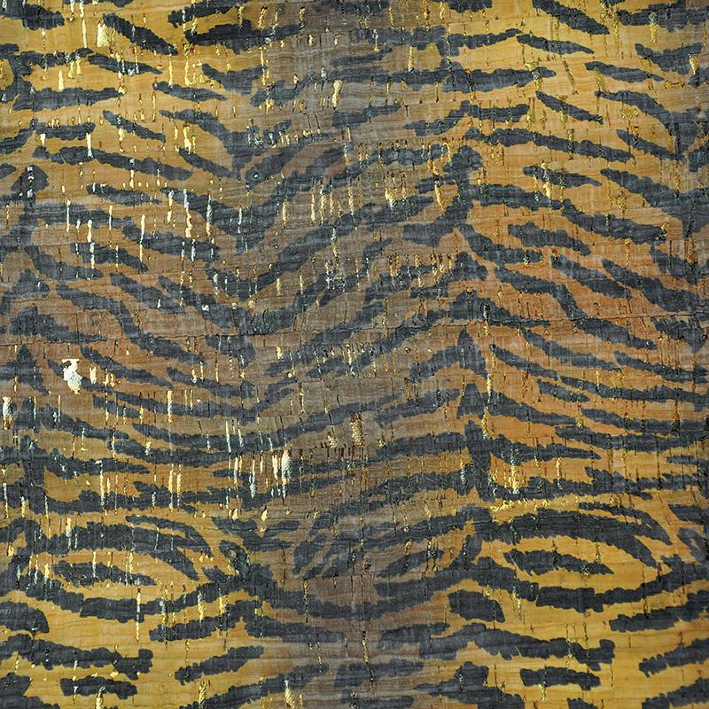 Cork Fabric 18x15 Tiger print