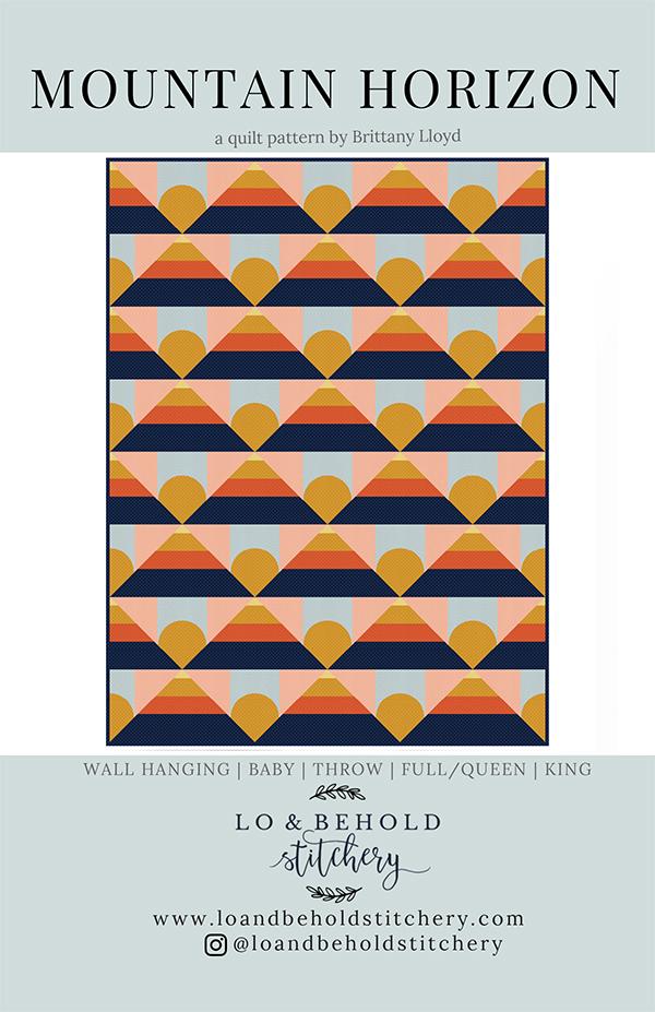 Mountain Horizon Pattern  by Lo & Behold Stitchery