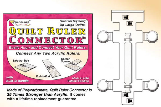 Guidelines Quilt Ruler Conector