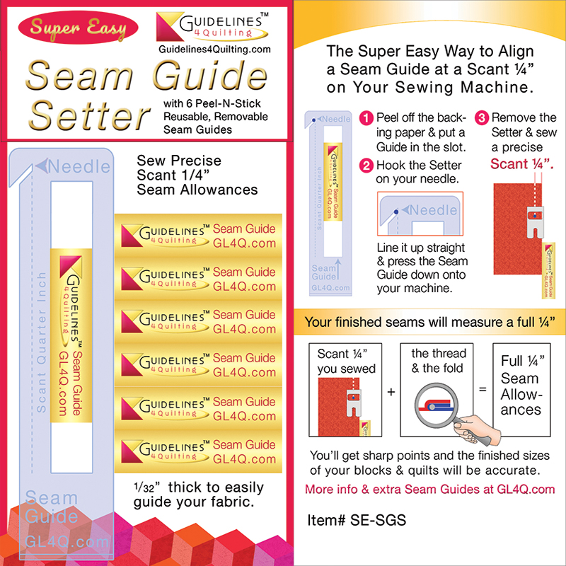 Super Easy Seam Guide Setter