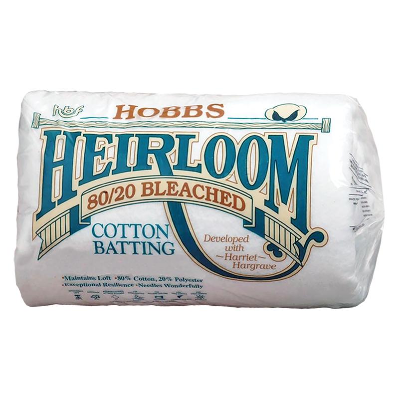 Heirloom Bleached Batting King 120 X 120