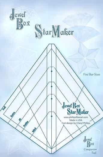 Jewel Box Gem Star Ruler - 5 Star Sizes - Phillips Fiber Art
