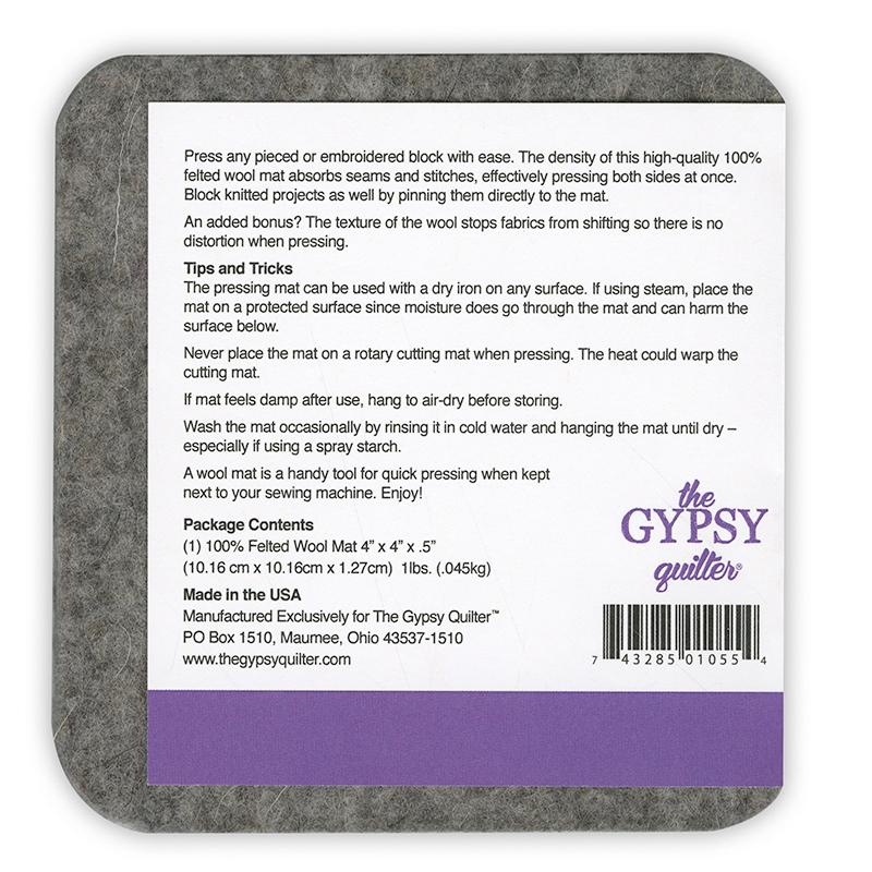 Gypsy Wool Pressing Mat 4 x 4 TGQWM4