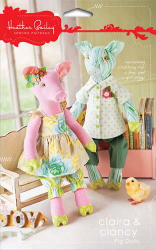 Claira And Clancy Pig Dolls Pattern