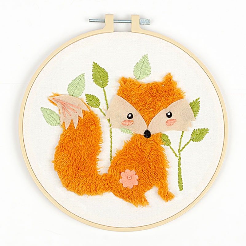 Needle Creations 3D Fox Embroidery Kit