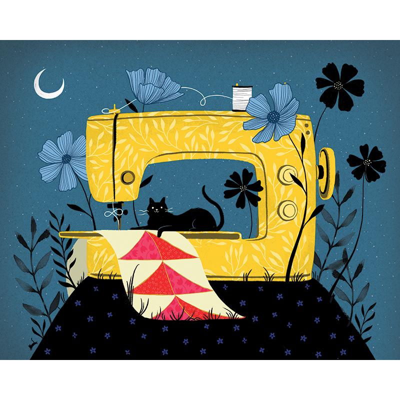 Art Prints 8x10 Sewing Night