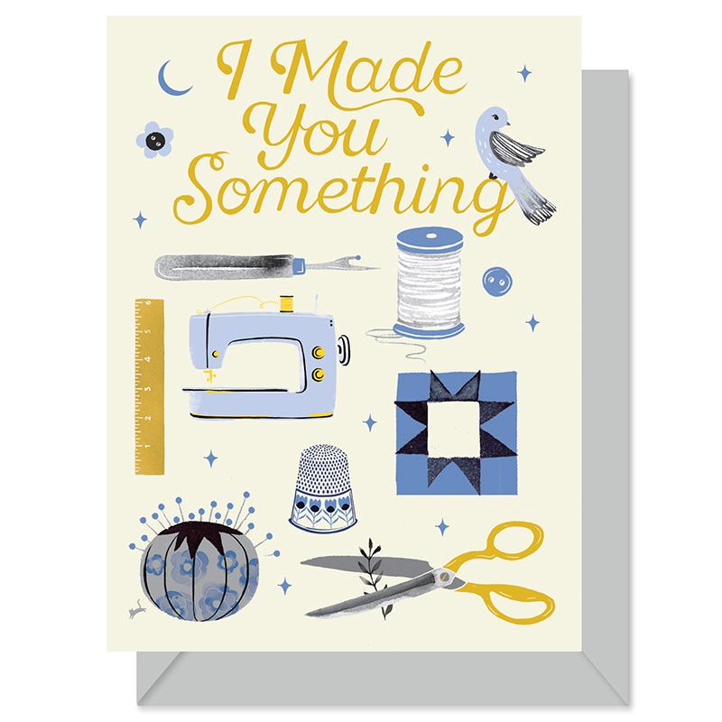 Made Something Card Sewing Thng