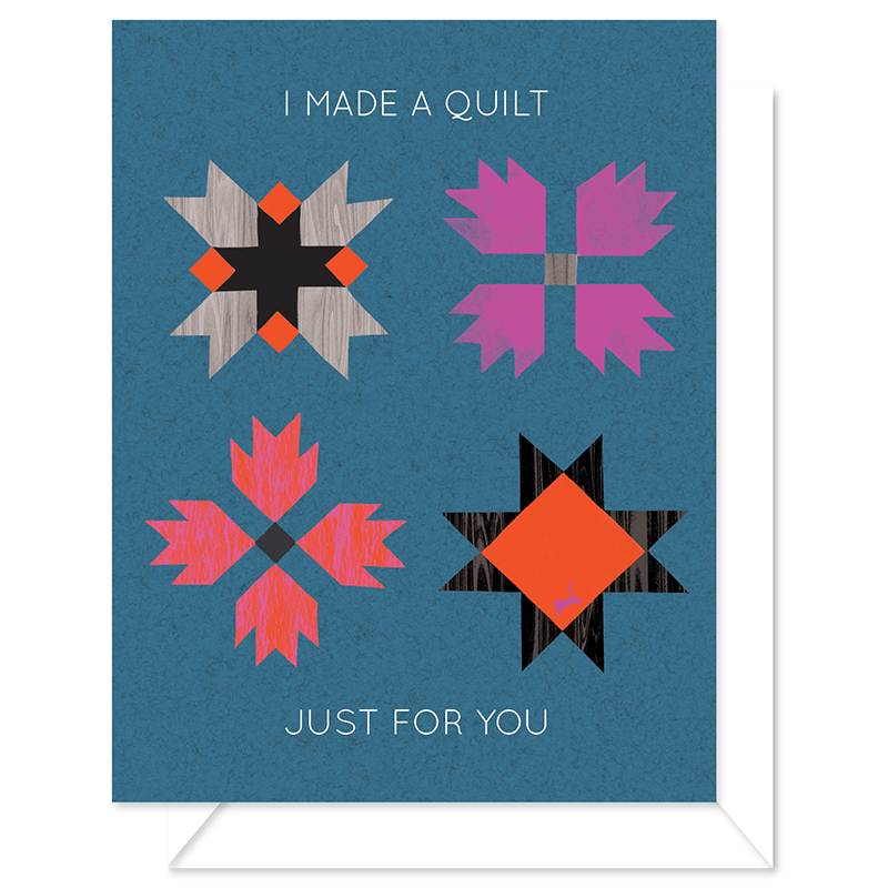 I Made A Quilt - Greeting Card by Craftedmoon
