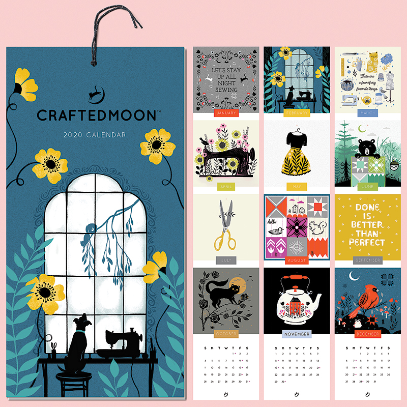 Sewing Theme Wall Calendar 2020