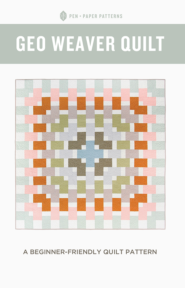 Geo Weaver Quilt by Pen and Paper Patterns