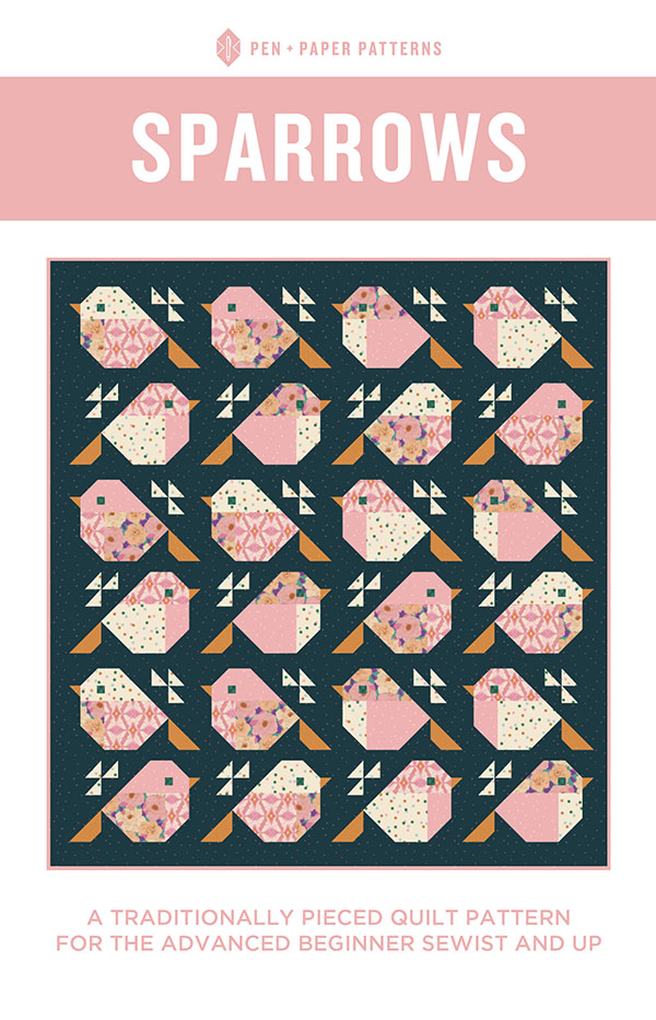Sparrows Quilt Pattern-Pen & Paper