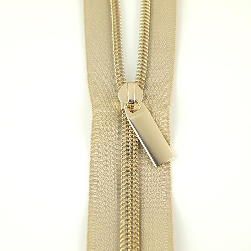 Zipper Beige/Gold 9 Pulls/3yds