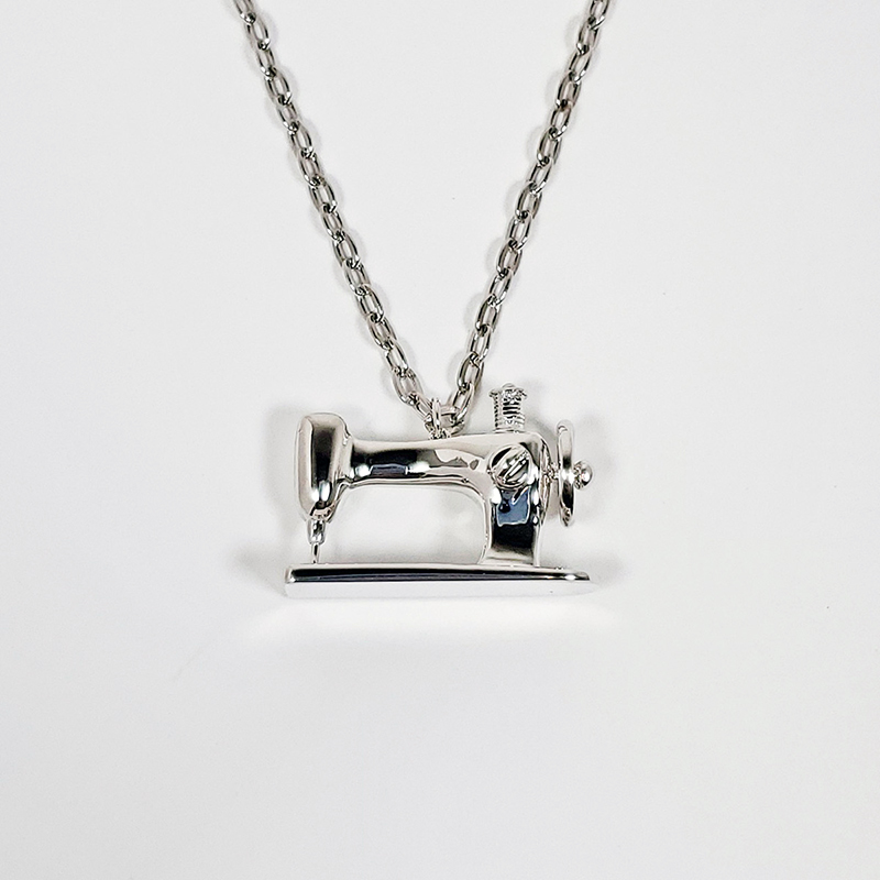 Sewing Machine Pendant - Silver