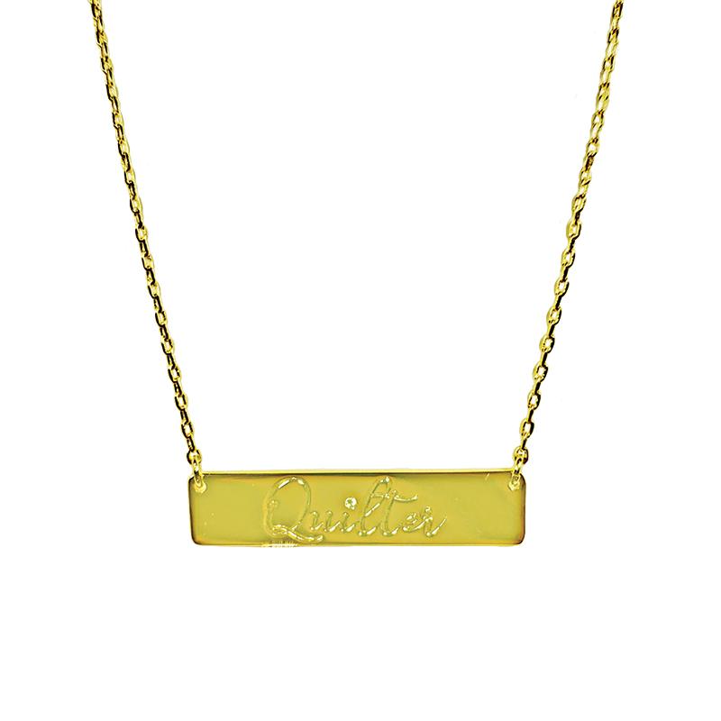 Pendant Quilter Bar Gold