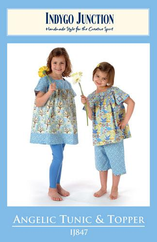 Angelic Tunic & Topper Kid's Pattern by Indygo Junction