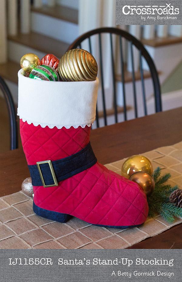 Santas Stand Up Stocking
