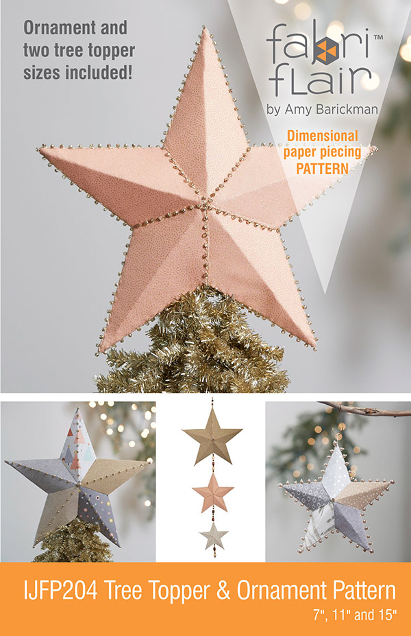PT- Fabriflair Tree Topper & Ornament