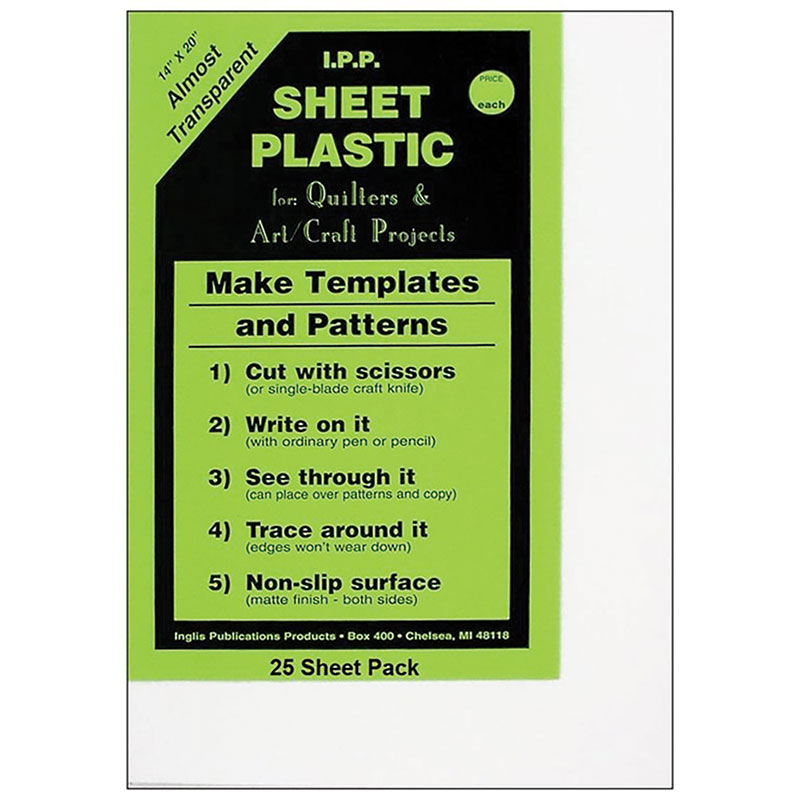 Template Plastic Sheets 14x20 - Inglis - IPP25