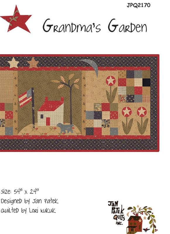 Grandmas Garden  Quilt Pattern by Jan Patek
