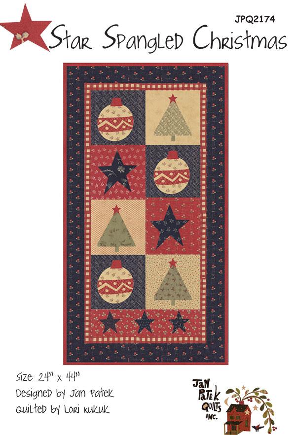 Star Spangled Christmas Quilt Pattern by Jan Patek