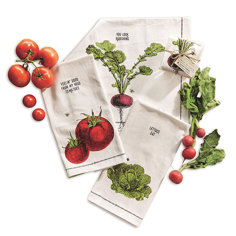 Farm To Table Towel/Fruit Crate - Lettuce