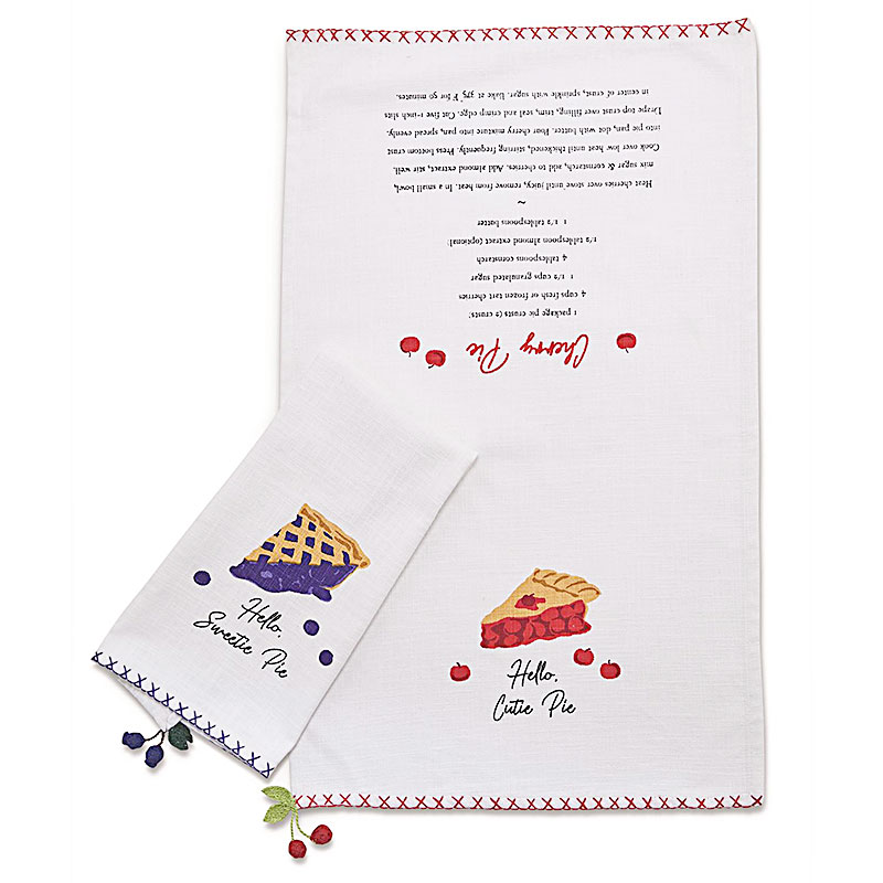 Dish Towel Sweet As Pie - by Two's Company